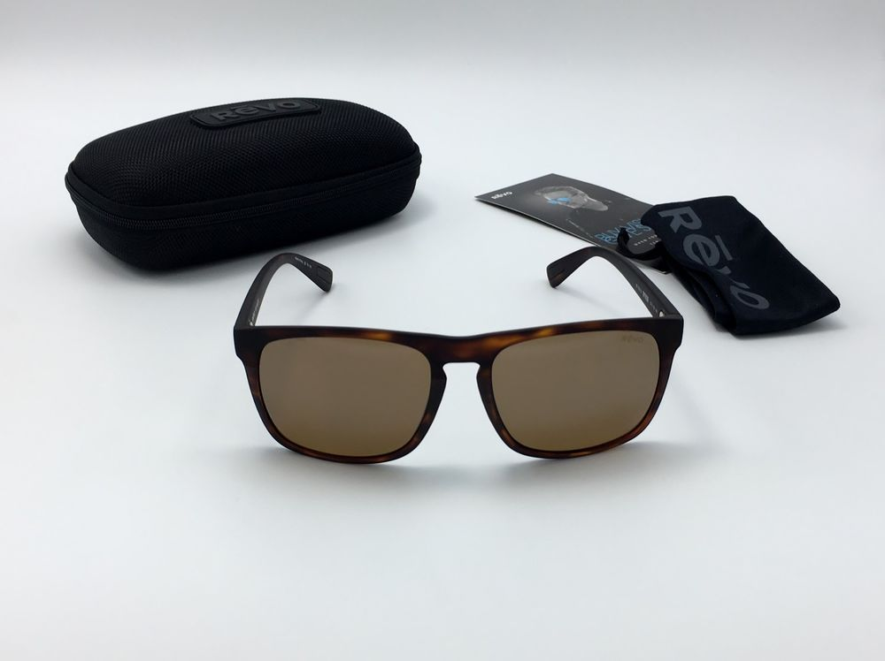 2cc7039a1d Revo 1035 02 BR Ryker Men s Tortoise Sunglasses POLARIZED Terra Brown Lens  57mm