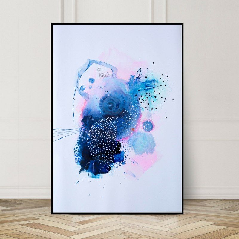 Confetti Size A3 Or 50x70 Cm Paper Art Abstract Art