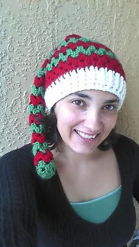 Ravelry Adult Granny Square Elf Hat Free Crochet Pattern From