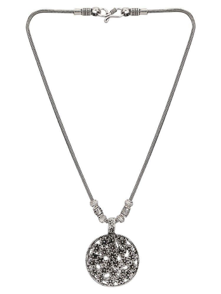Lux Accessories SilverTone Mystical Celestial Galaxy Faux Quartz Choker Necklace