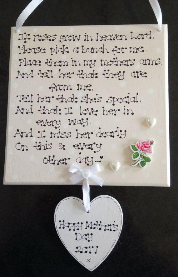 Memorial someone love  in heaven bereavement plaque keepsake personalised gift