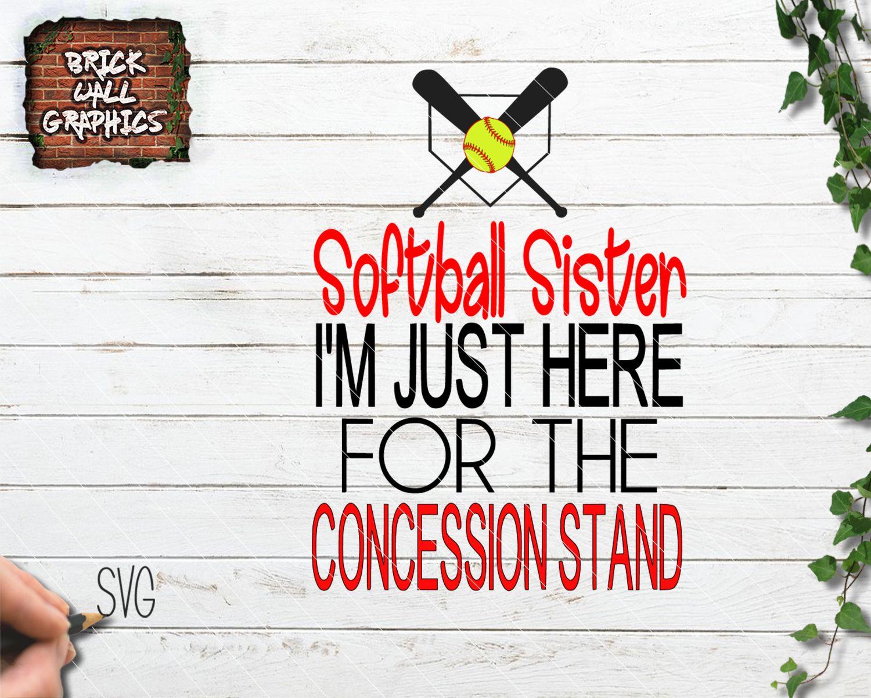 Softball Sister SVG File Sisters, Softball, Svg files