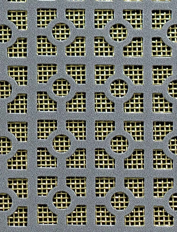 Ventilation Grilles Moroccan Pewter 1x1m With Brass