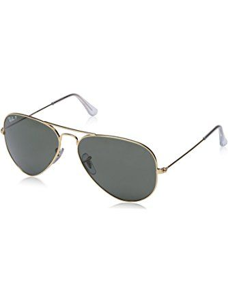 black polarized ray ban wayfarer  Ray-Ban RB3025 Aviator Large Metal Sunglasses 58 mm, Polarized ...