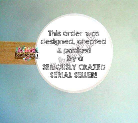 Etsy seller sticker etsy designer sticker crazy sticker etsy sticker etsy label etsy created label custom etsy label