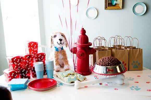fiesta tematica para nios de perros
