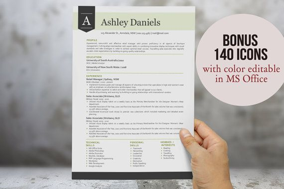 In  Modern Ribbon Resume Template For Ms Word Docx Cv