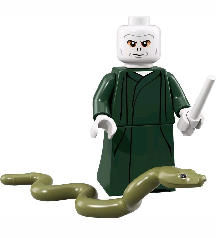 Lord Voldemort Nagini Minifigure Minifig Figure Toy Harry Potter Movie Hogwarts