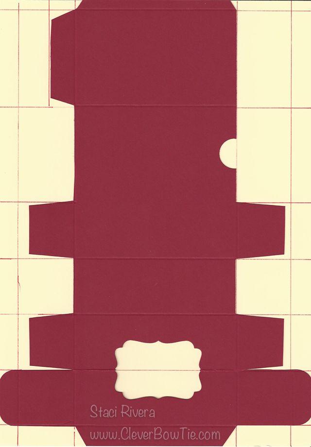 Treat Box Template using 8.5x11 inch cardstock. Staci Rivera Stampin ...