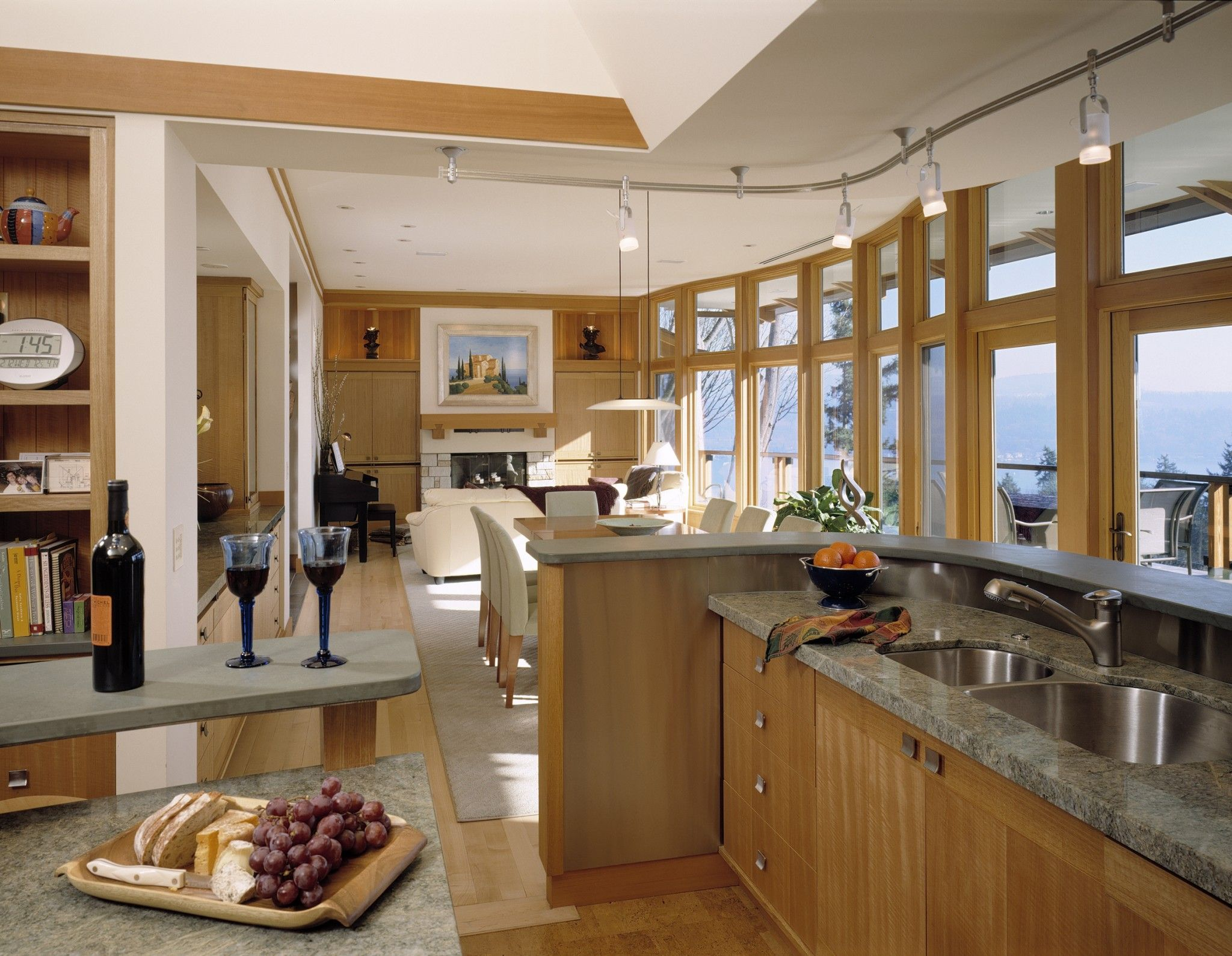 An open concept home where the kitchen