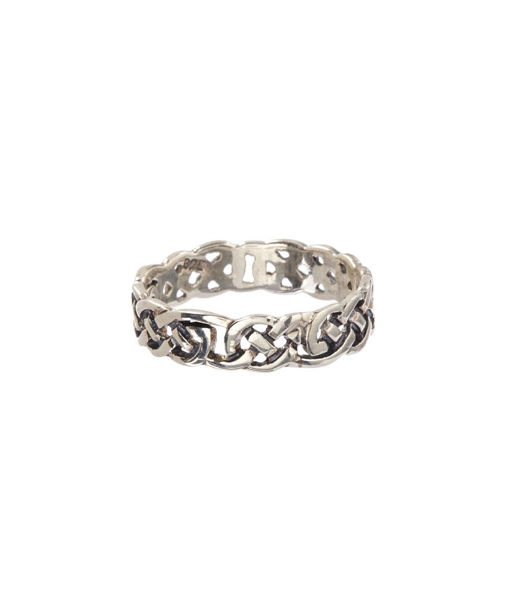 Look at this Posh Silver Company Sterling Silver Celtic Knot Band Ring on #zulily today!