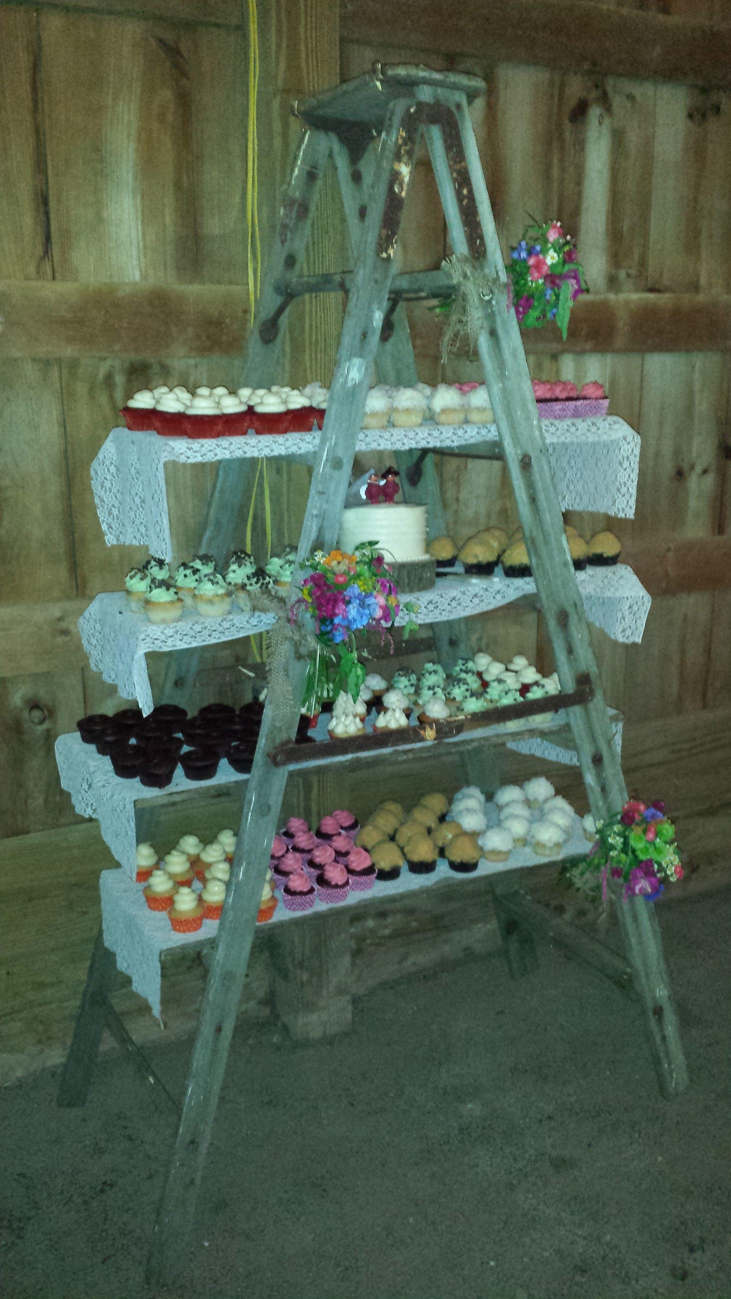 Cupcake Ladder Wedding Decorating Ideas Pinterest