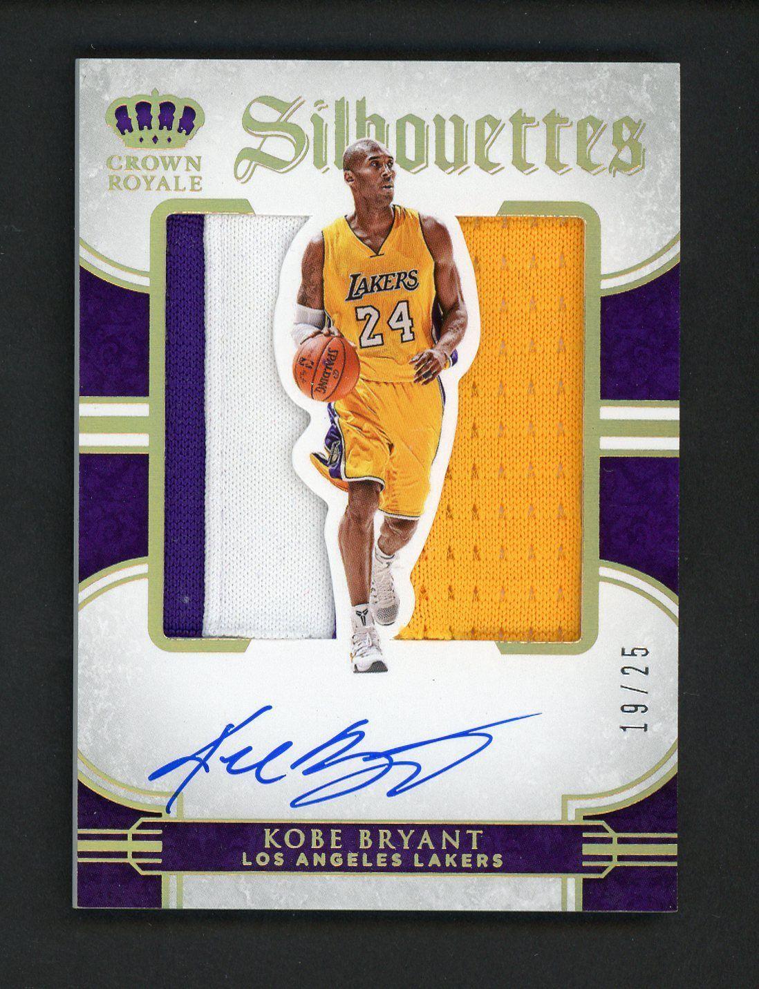 Sportsmemorbilia 2015 16 Preferred Silhouettes Kobe Bryant Lakers Jumbo 3 Color Patch Auto 19 25 Colle Basketball Cards Kobe Bryant Los Angeles Bryant Lakers