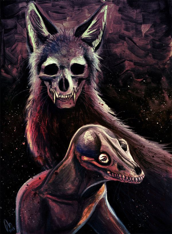 Картинки лис и черепов
