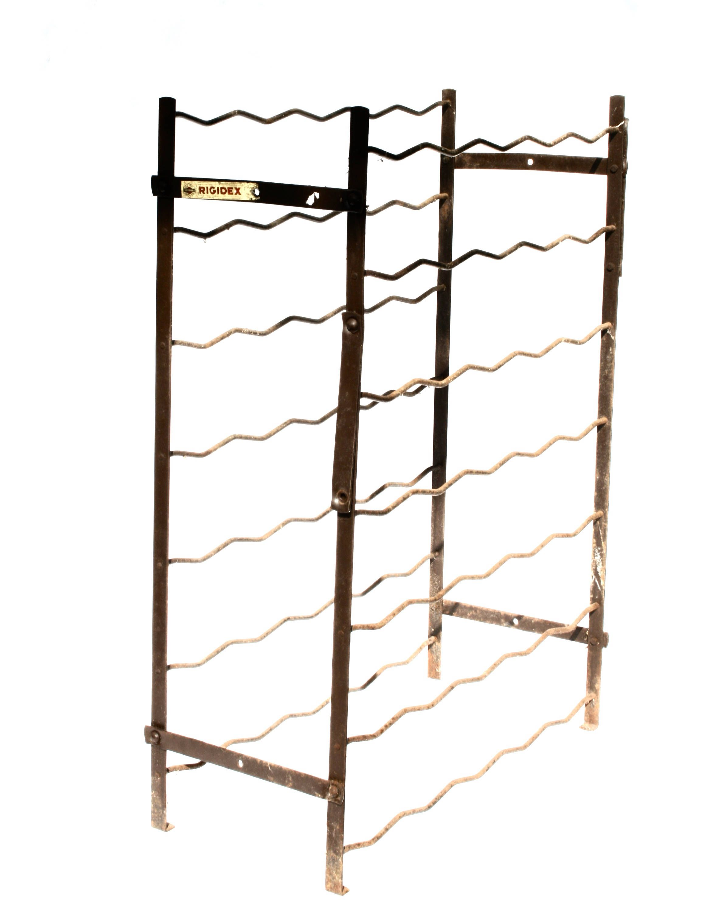 Vintage Wine Rack Floor French Country Made In France Rigidex