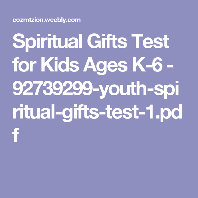 photo regarding Printable Spiritual Gifts Test Baptist called Pin upon Childrens Ministry Recommendations