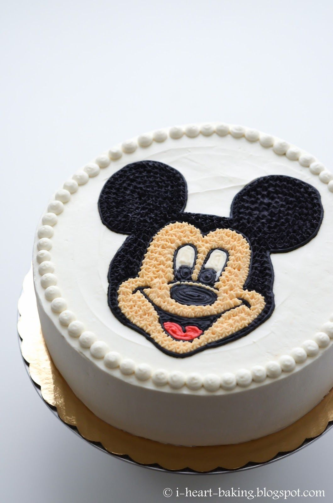 Mickey Mouse Face Birthday Cake Coffee Chiffon Cake With
