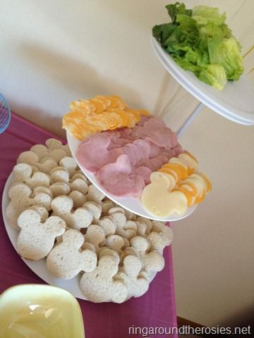 Ice cream shaped sandwich bar idea! (from Elizabeth's 2nd birthday {minnie mouse picnic})