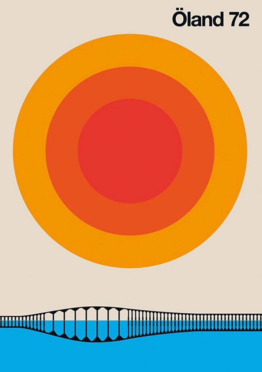 'Around the World' - Colourful Modern Vintage Posters
