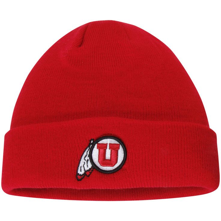 6c3e352c8c5 Utah Utes Top of the World Simple Cuffed Knit Hat - Red