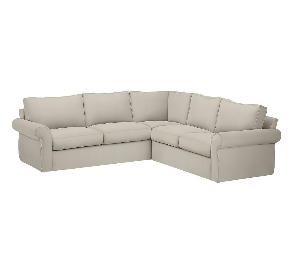 Pearce Slipcovered 2pc L Shaped Sectional Down Blend
