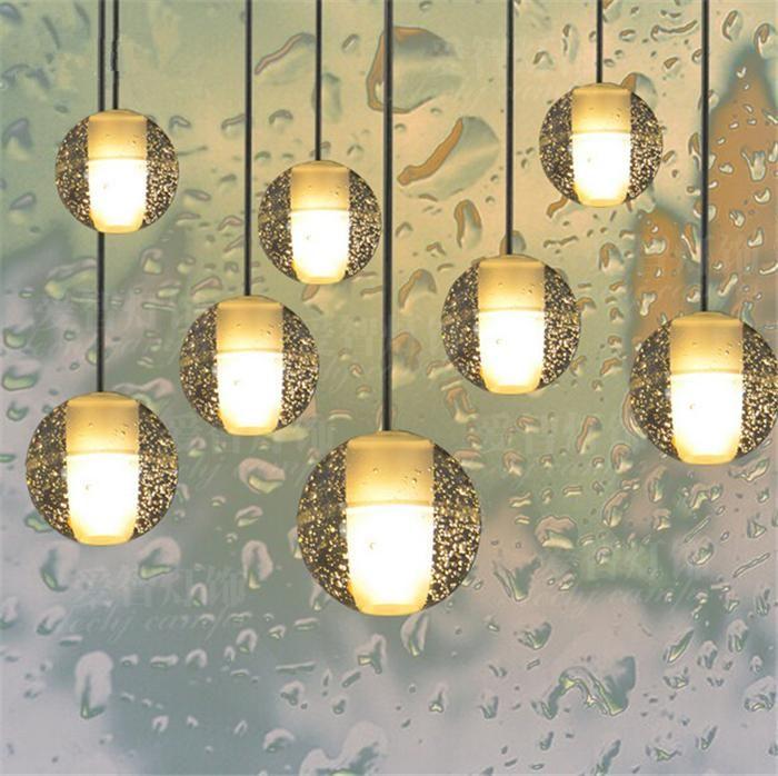 gro handel weihnachten led kristall glas kugel h ngeleuchte meteor regen deckenleuchte. Black Bedroom Furniture Sets. Home Design Ideas