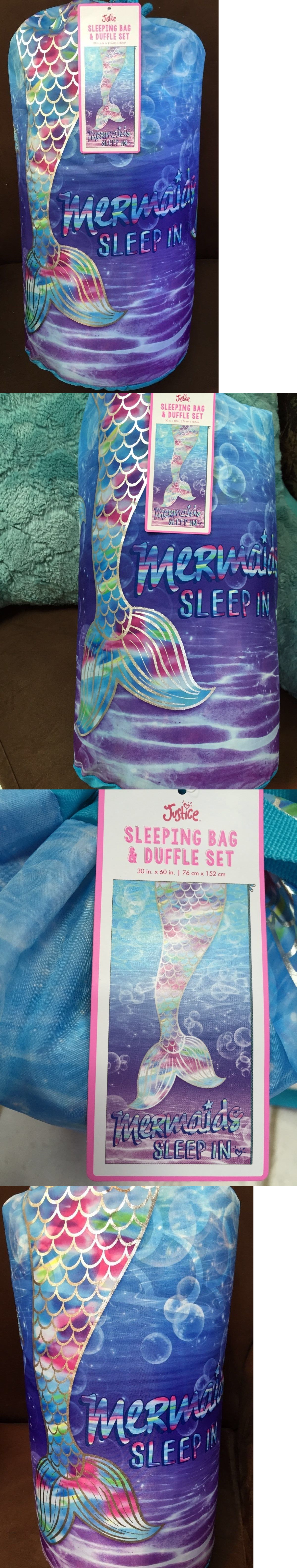 867367e862 Backpacks 57917  Justice Mermaid Sleeping Bag And Duffle Bag Brightly  Colored Super Cute!! -  BUY IT NOW ONLY   49.99 on eBay!