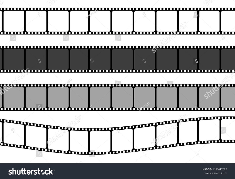 Set Of Film Strip Frame Vector Template Illustrationstrip Film Set Frame Film Strip Templates Vector