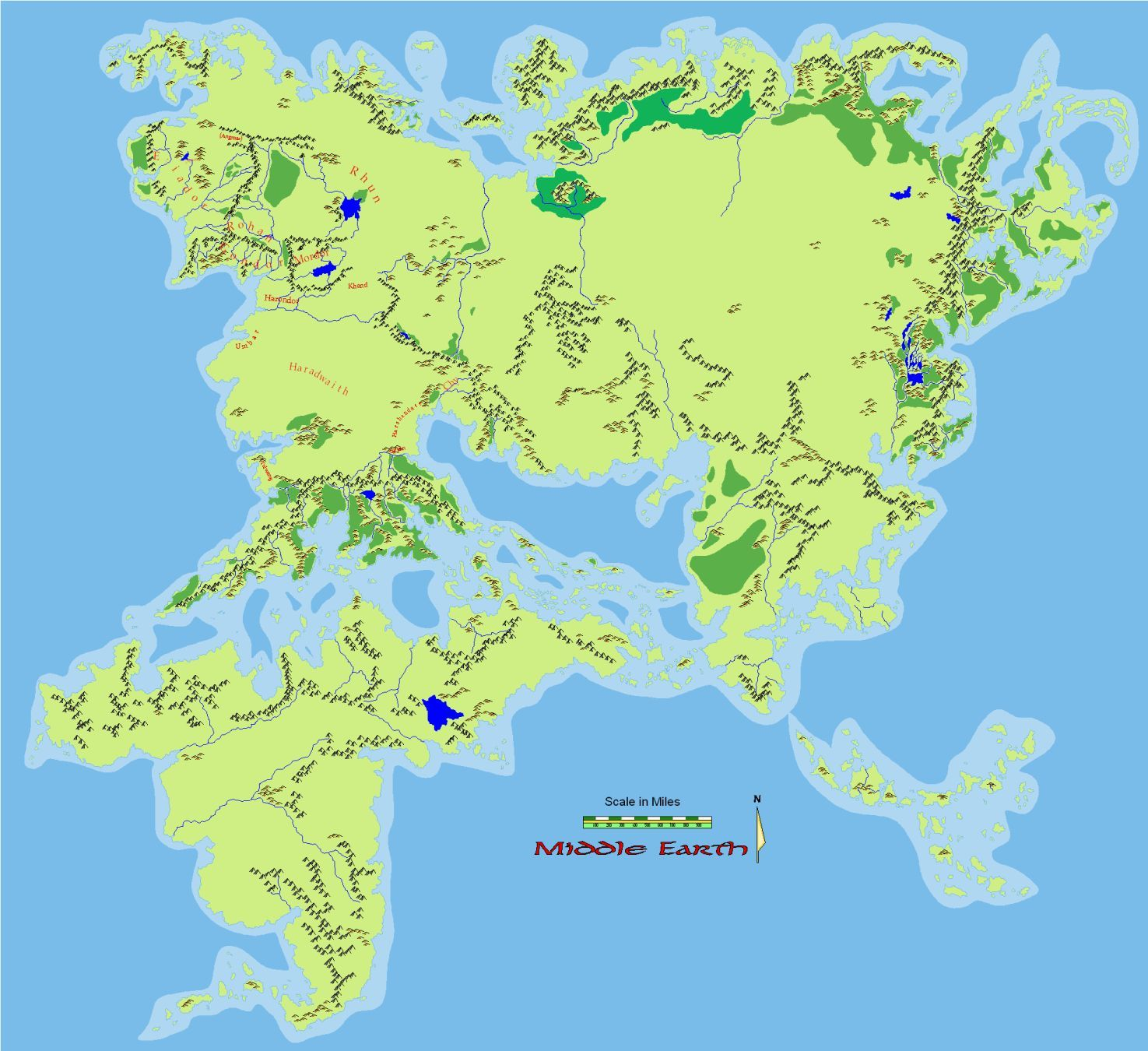 combined map of beleriand and middle earth - Google Search | J.R.R. ...