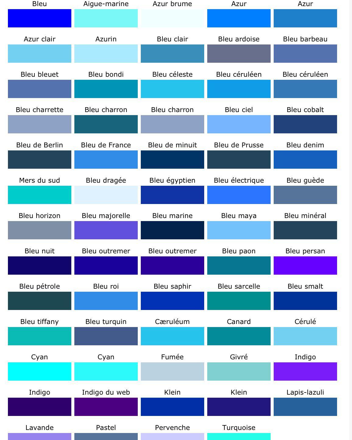 les nuances de bleu un peu fleur bleue et tout ce bleu a rend heureux blue paint. Black Bedroom Furniture Sets. Home Design Ideas