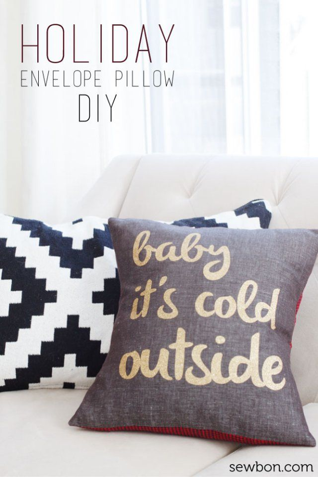DIY Baby It s Cold Outside Holiday Envelope Closure Pillow made