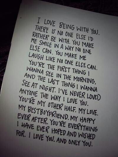 Cute Letters To Write Your Girlfriend