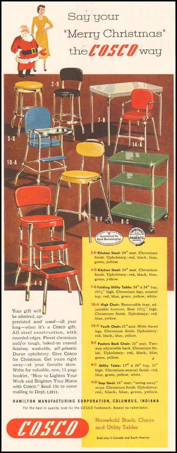 Cosco Chairs Stools And Tables Ladies Home Journal 11 01