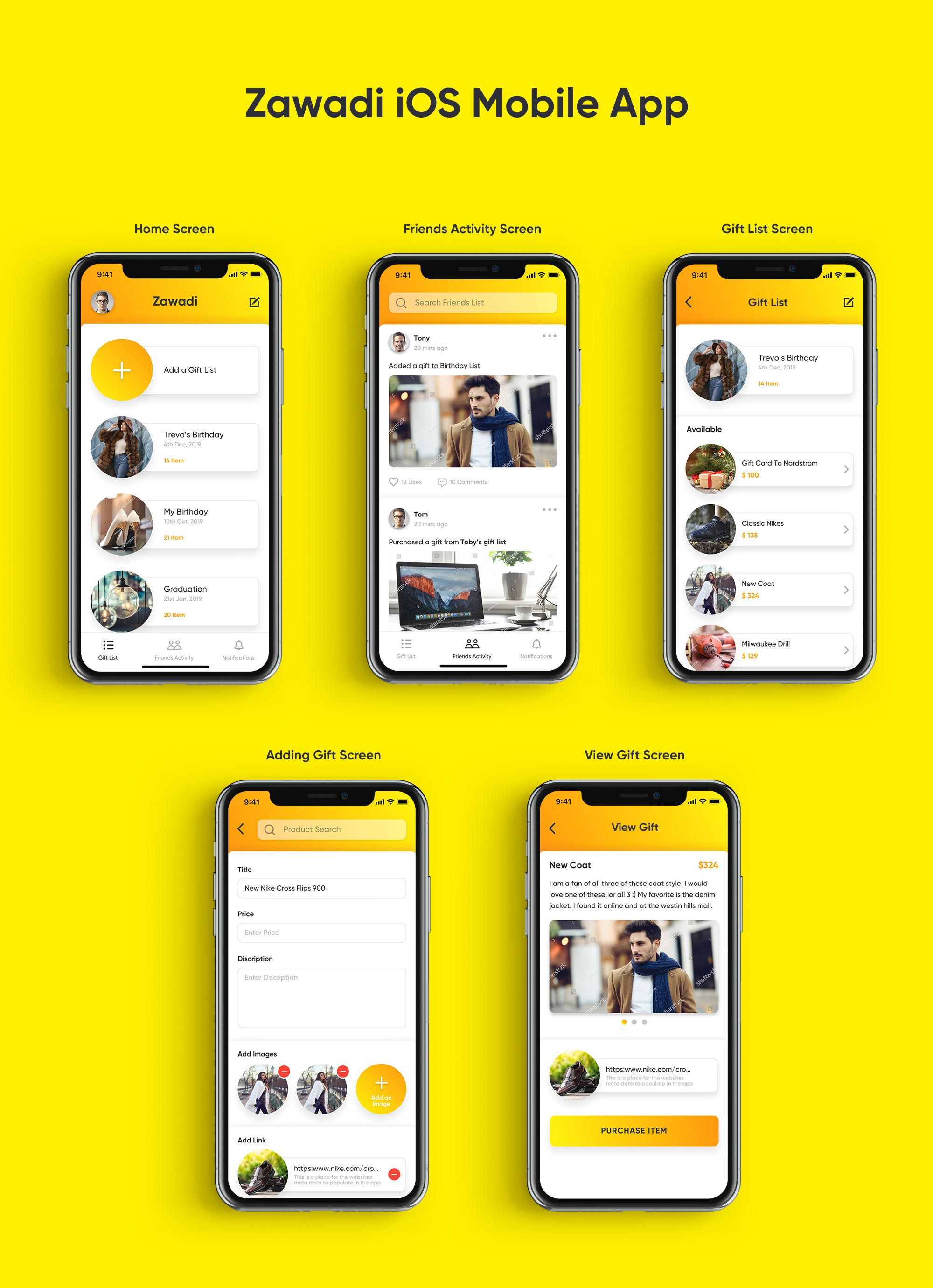 iOS Mobile app App home screen, App design, Mobile app
