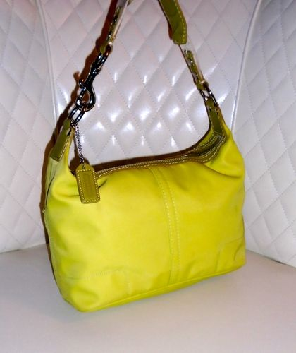 417496a7e8d0 COACH Hampton Lime Green Nylon