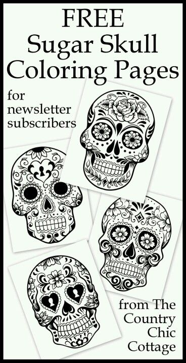 Sugar skull outlines for signs | Bordado | Pinterest | Dia de las ...