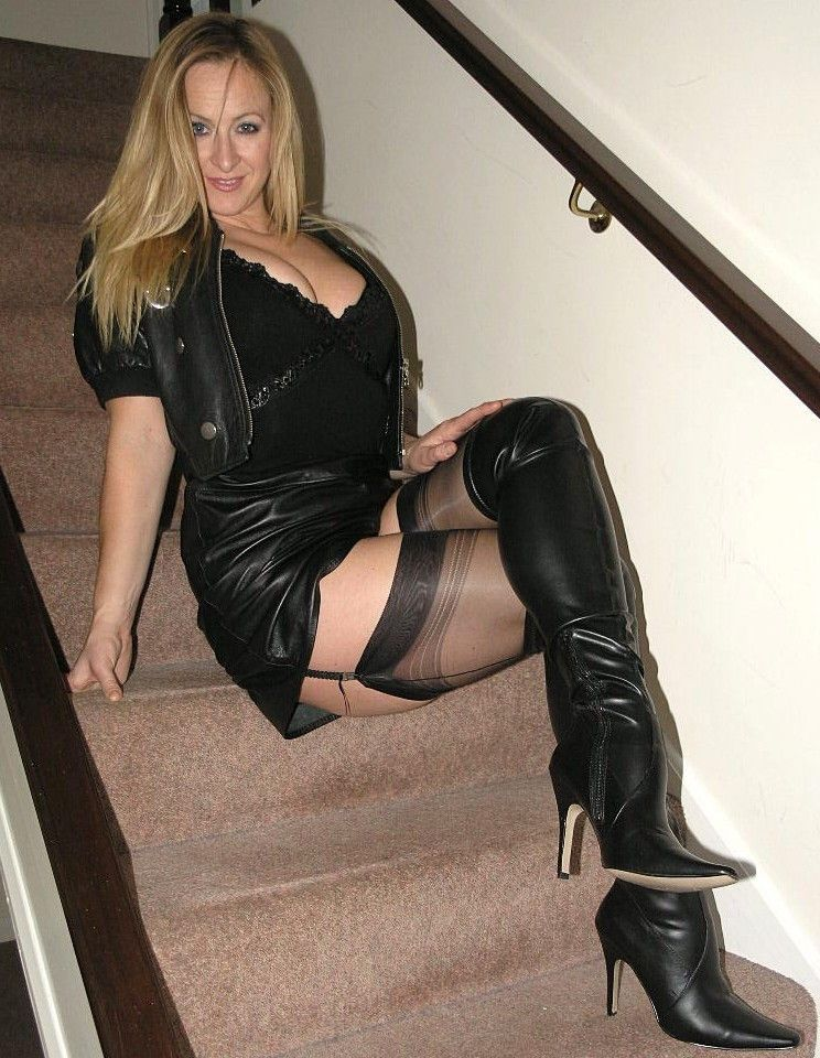Clothed Milf Tease Boots 29