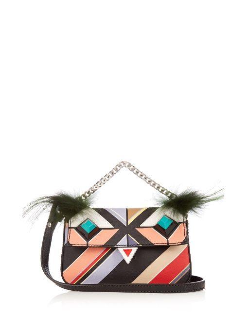 bff8c56e88 FENDI Micro Baguette Bag Bugs cross-body bag. #fendi #bag | Fendi ...
