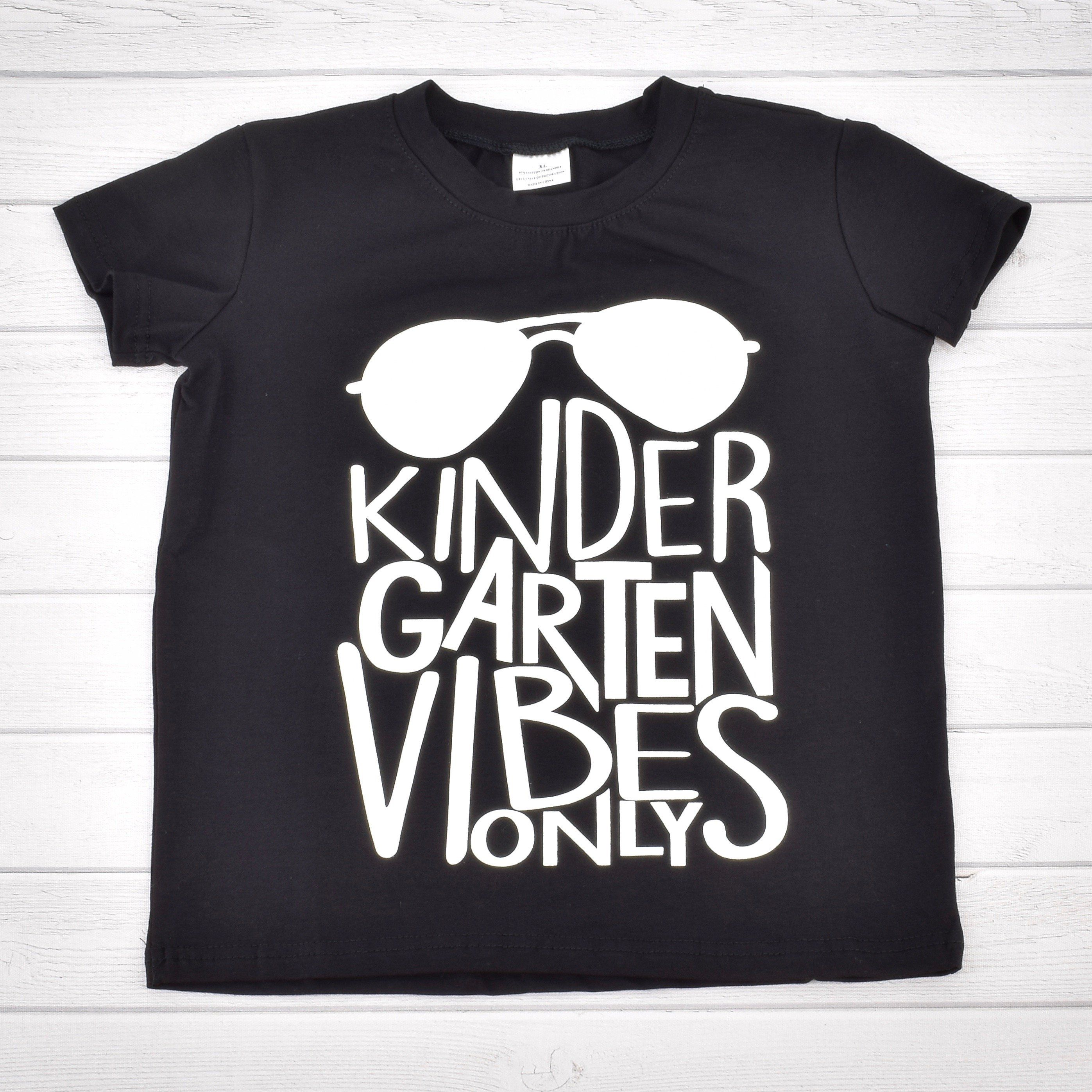 Unique Baby Boys Kindergarten Vibes Only Back to School Shirt