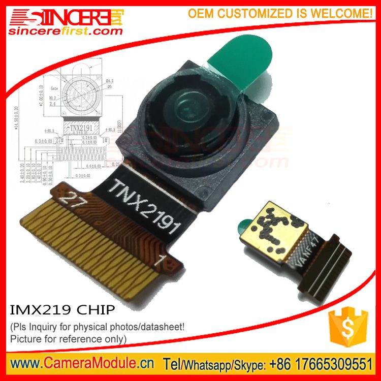 SONY IMX219 8MP MIPI golden finger camera module 24pin CMOS