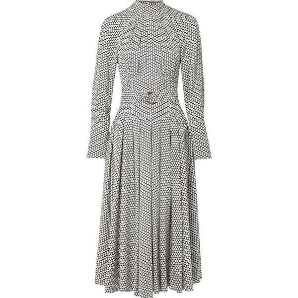 Diane von Furstenberg Belted polka-dot silk midi dress ($700 ...