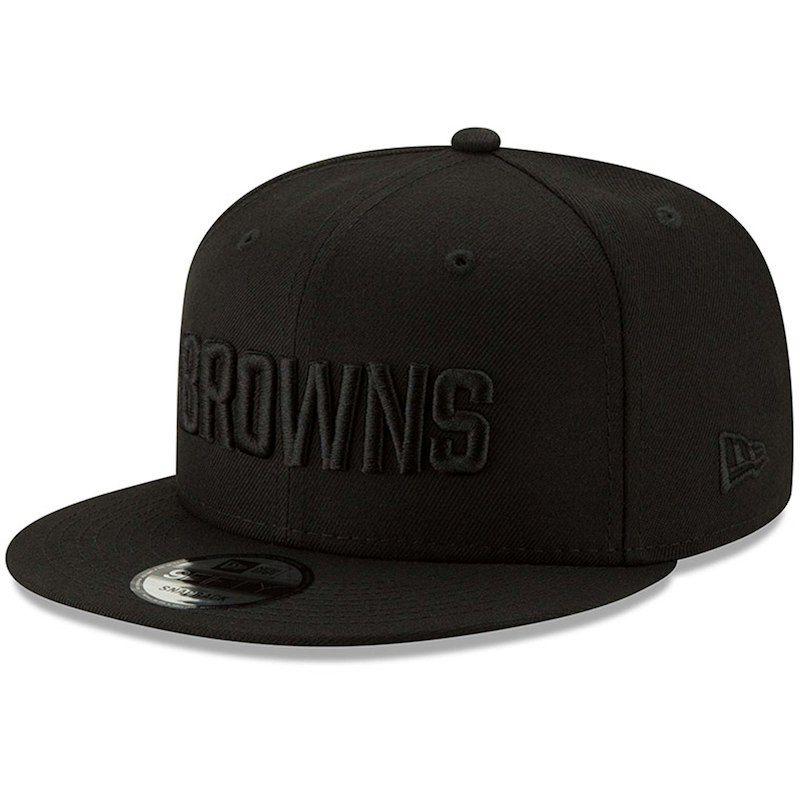 93d122c2e Cleveland Browns New Era Black On Black 9FIFTY Adjustable Hat - Black