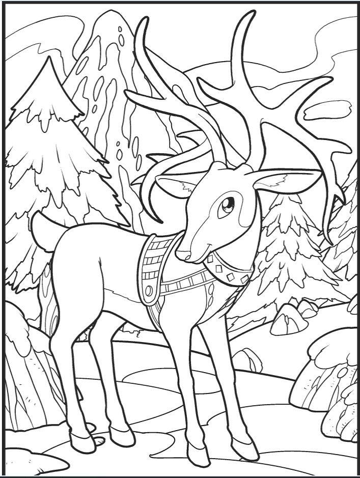Раскраски «Новый год» - «Новогодний олень» | Раскраски ...
