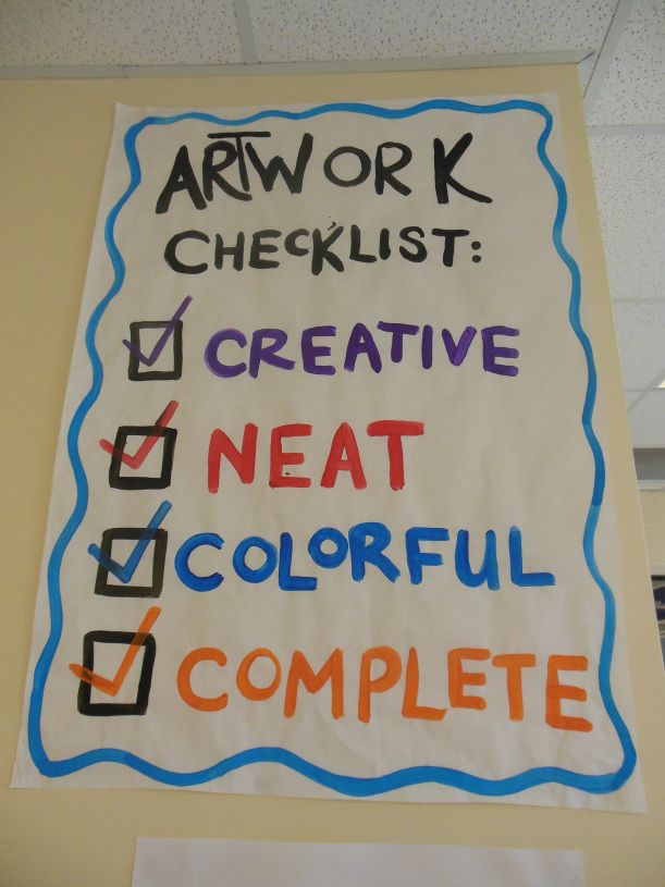 artwithmsk.com Artwork Checklist goes along with rubric