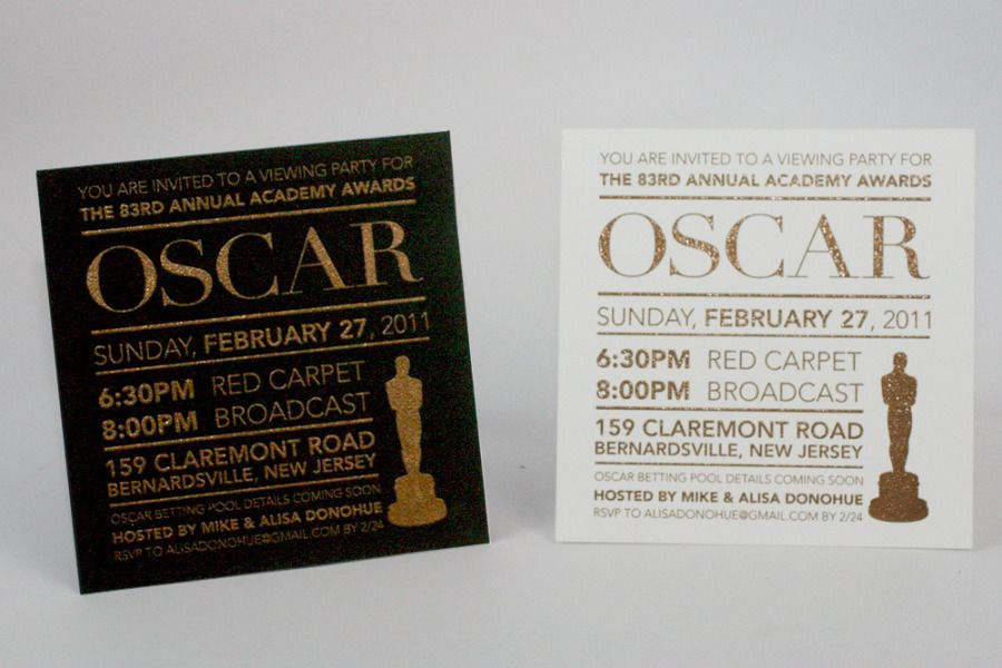 Oscar Party Invitation Hollywood Glam Party Pinterest