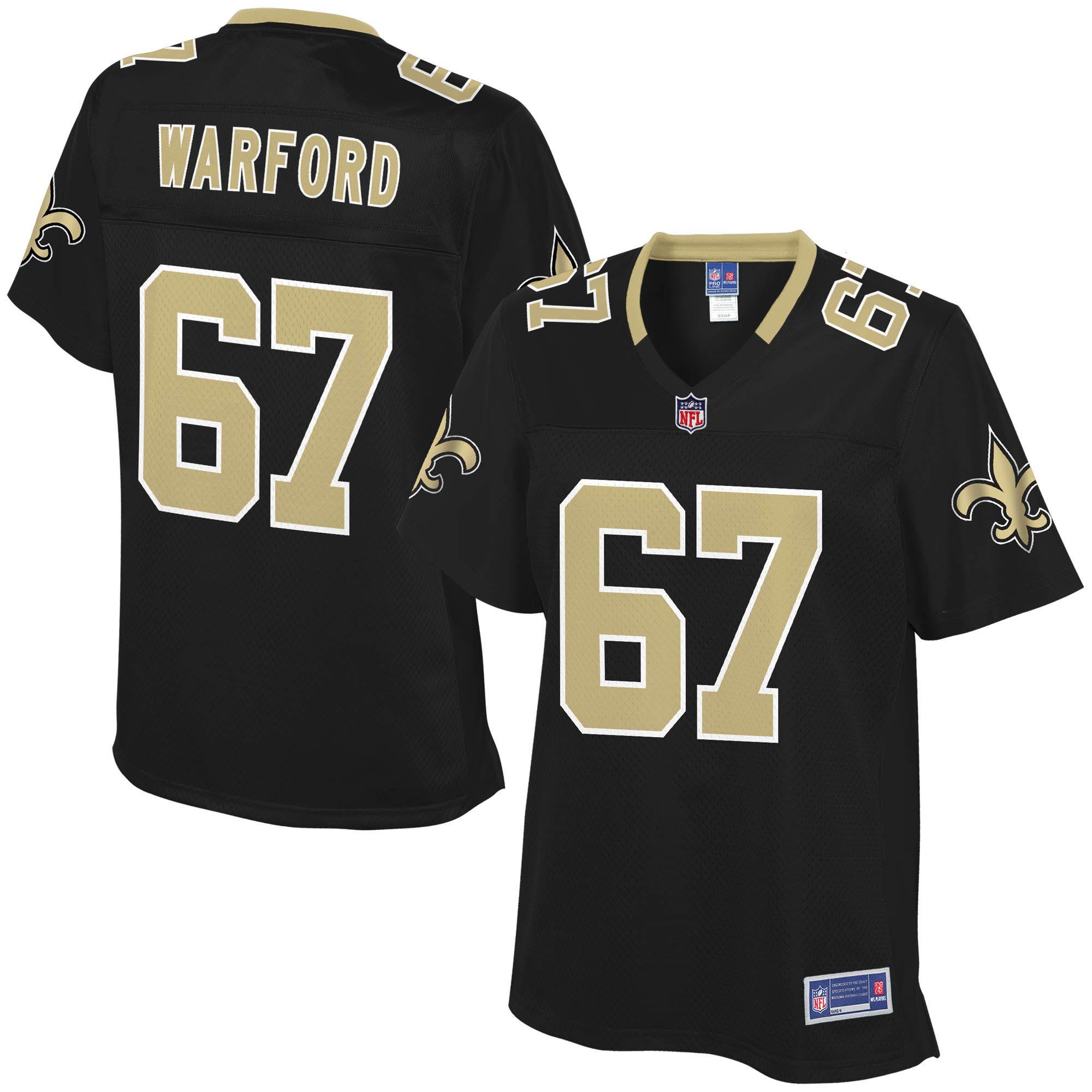 4ef9e252 Larry Warford New Orleans Saints NFL Pro Line Women's Player Jersey ...