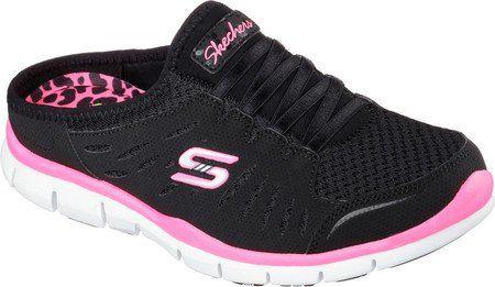skechers women's gratis no limits sneaker clogblack/whit