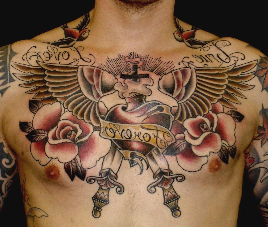 24++ Amazing Upper chest tattoo design image HD