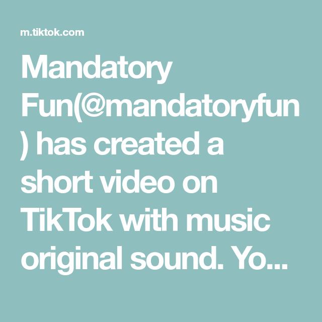 Mandatory Fun Mandatoryfun Has Created A Short Video On Tiktok With Music Original Sound You All Knew Who It W Happy Birthday My Love The Originals Bassett