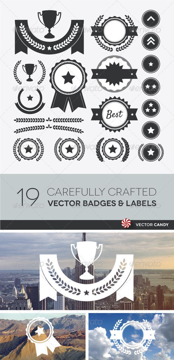 Award, Competition, and Rank Vector Element Set Adobe
